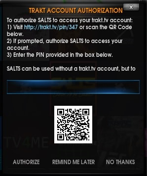 Configure Trakt in Kodi for SALTS