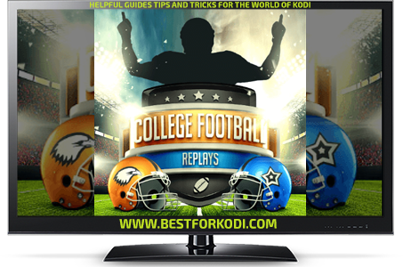 Guide Install College Football Replays Kodi Addon Repo Kodi addon
