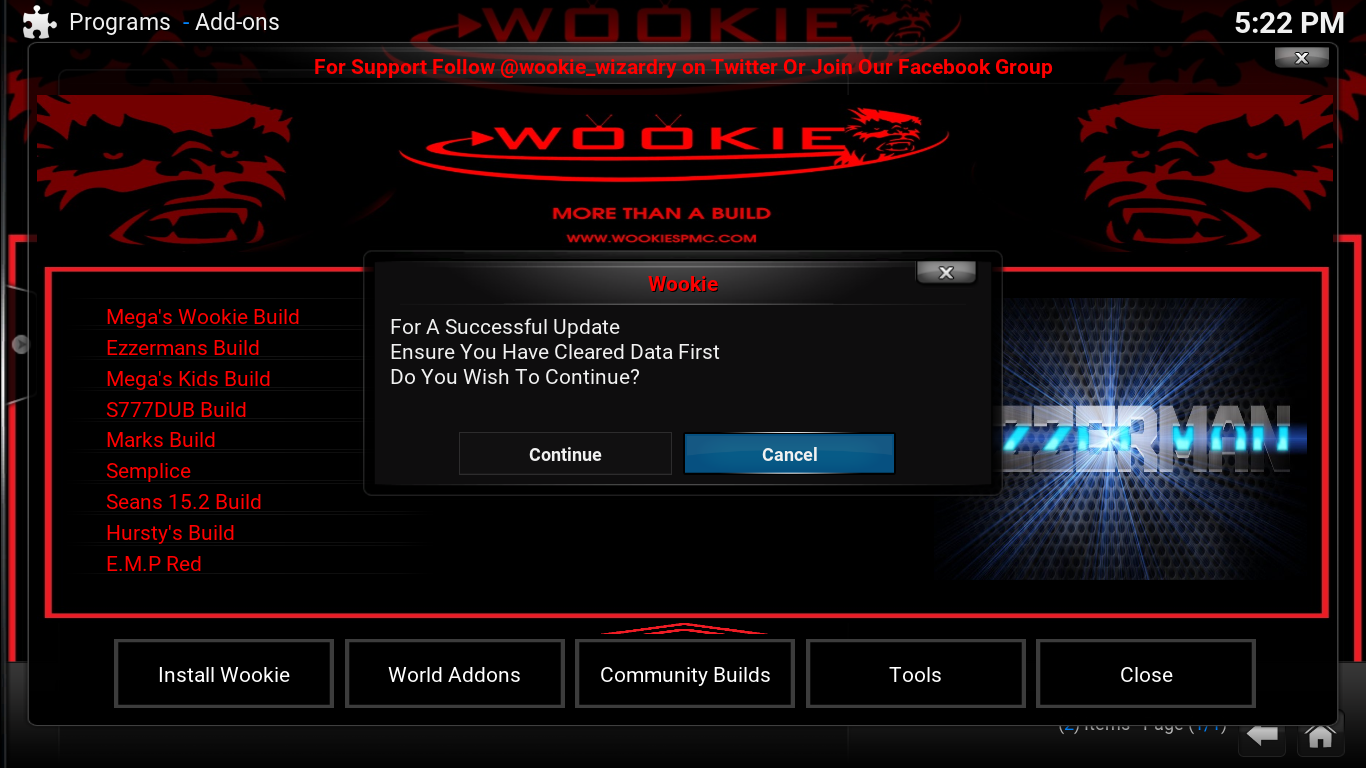 Guide Install Ezzerman build Skin Wookie Community