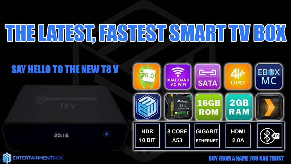 T8-4 Android TV Box, Kodi TV