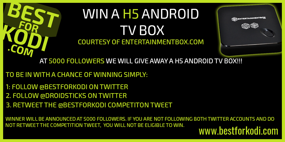 Best for Kodi Android Box Giveaway!!!!!!!!!!