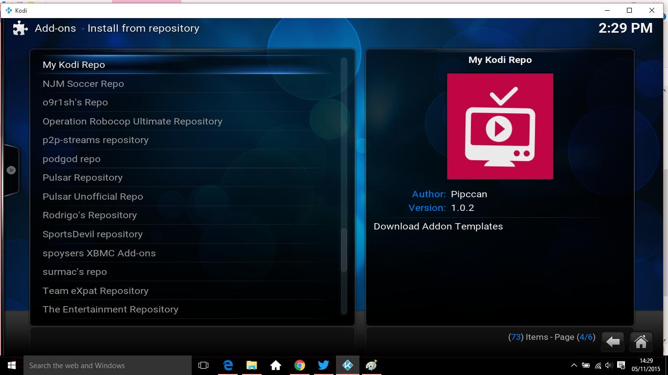 settings install 7