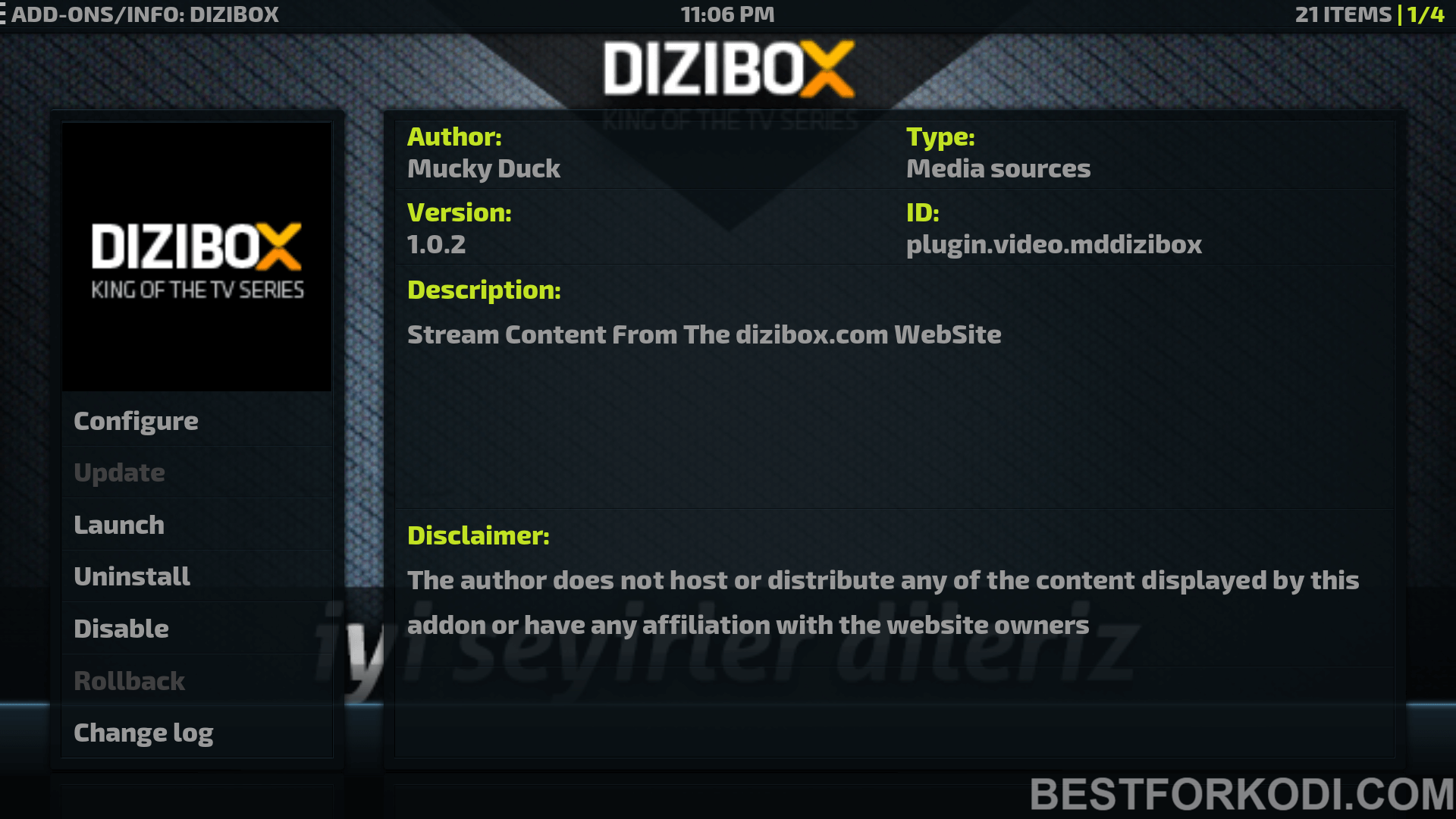 Install Dizibox Addon Kodi