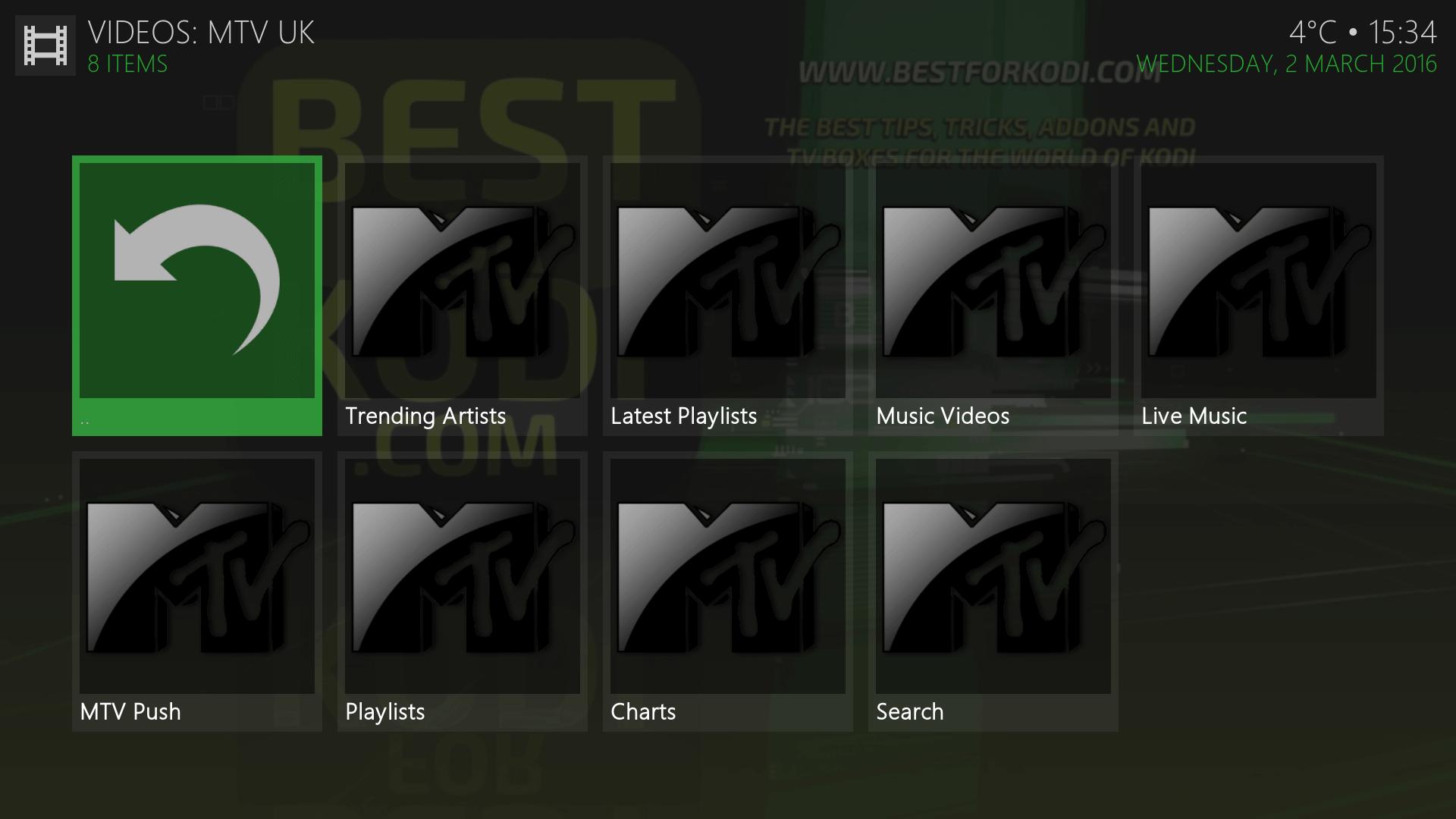 Install MTV UK Addon Kodi
