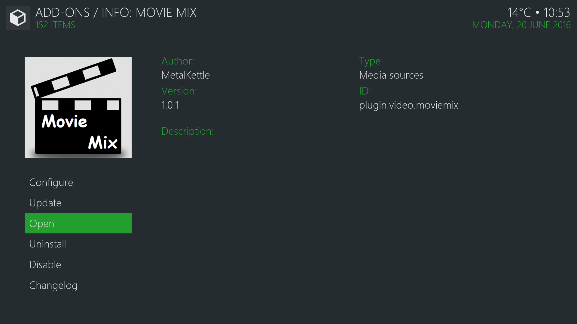 Install Movie Mix Kodi Addon