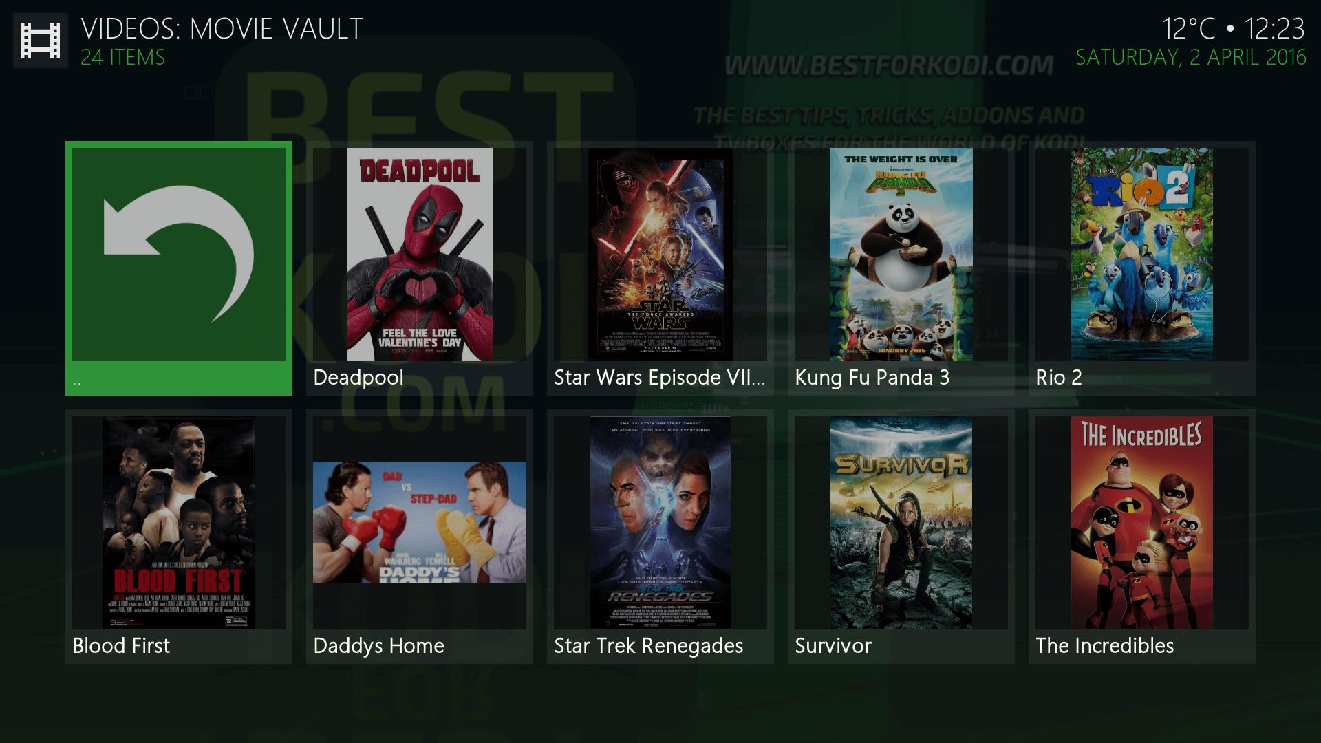 Install Movie Vault Kodi Addon