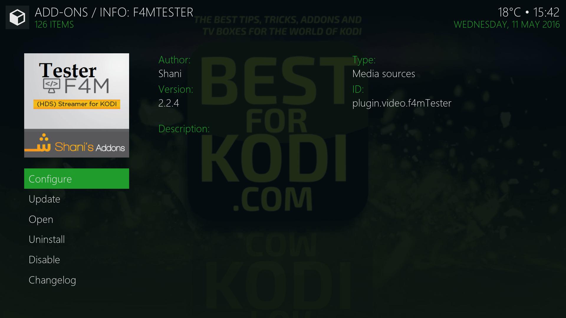 Install F4M Tester Kodi