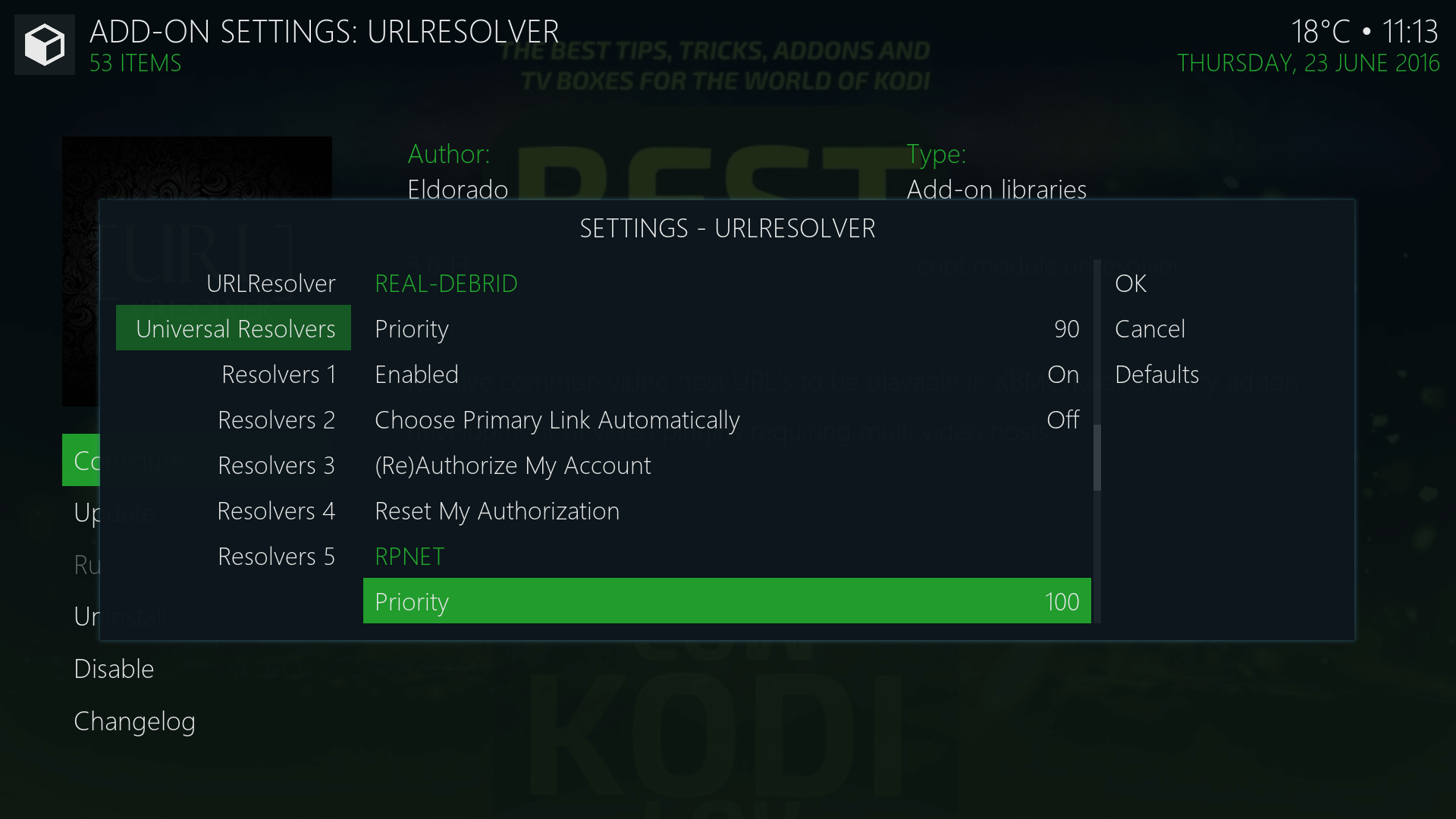 Configure Real Debrid in Kodi