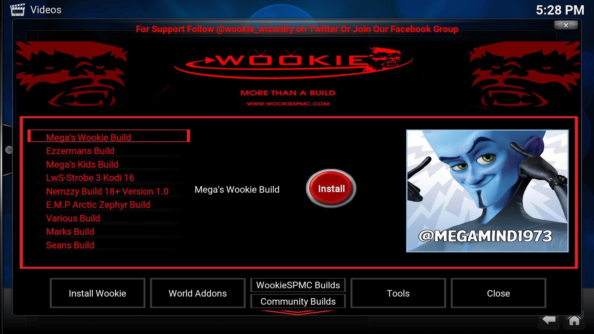 Mega S Wookie Build Download