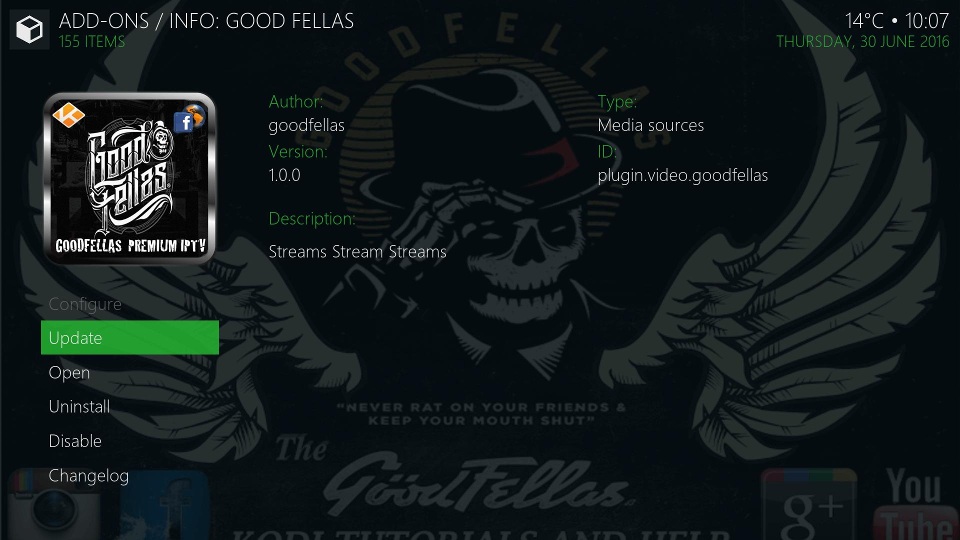 Install Goodfellas Kodi Addon