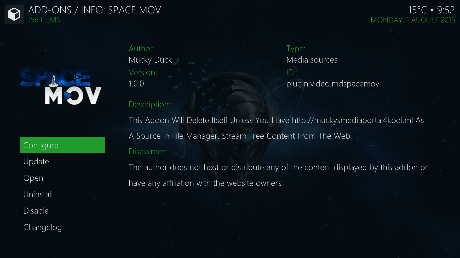 Install Space Mov Kodi Addon