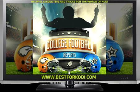 Guide Install College Football Replays Kodi Addon Repo Kodi addon