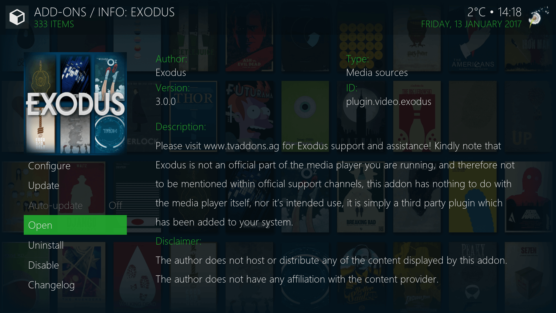 install exodus using fusion