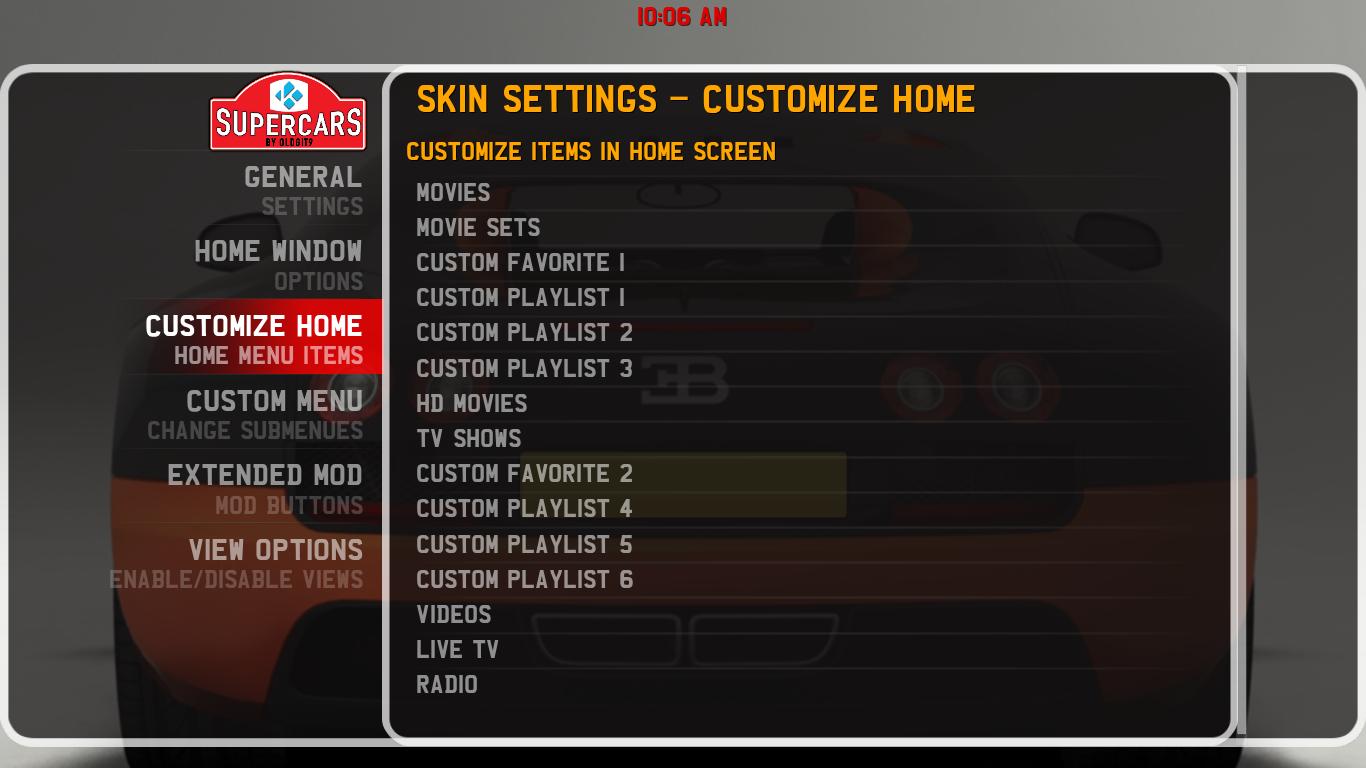 Customise A Build On Kodi