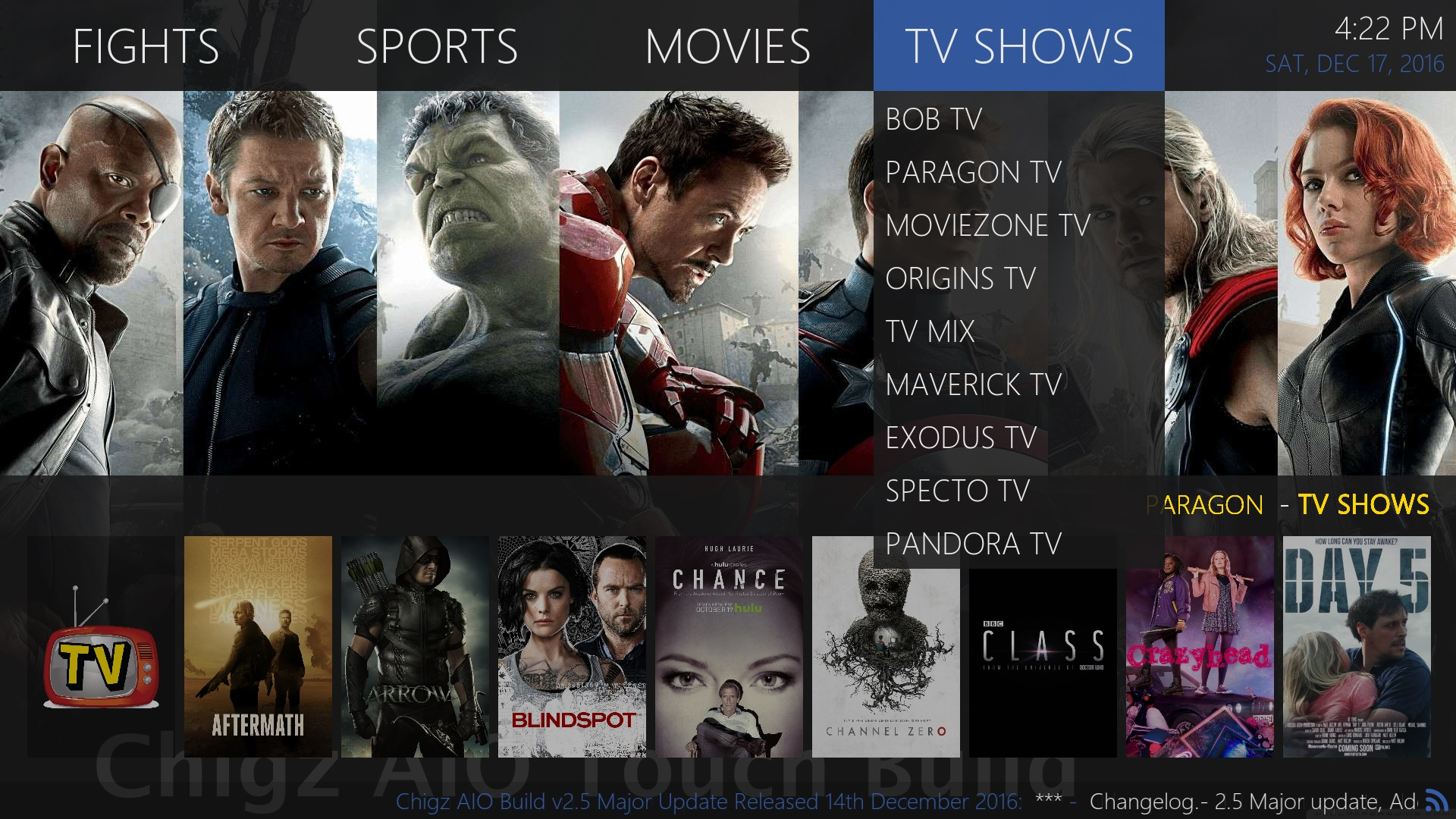 A look at Chigz AIO Touch Build in Kodi