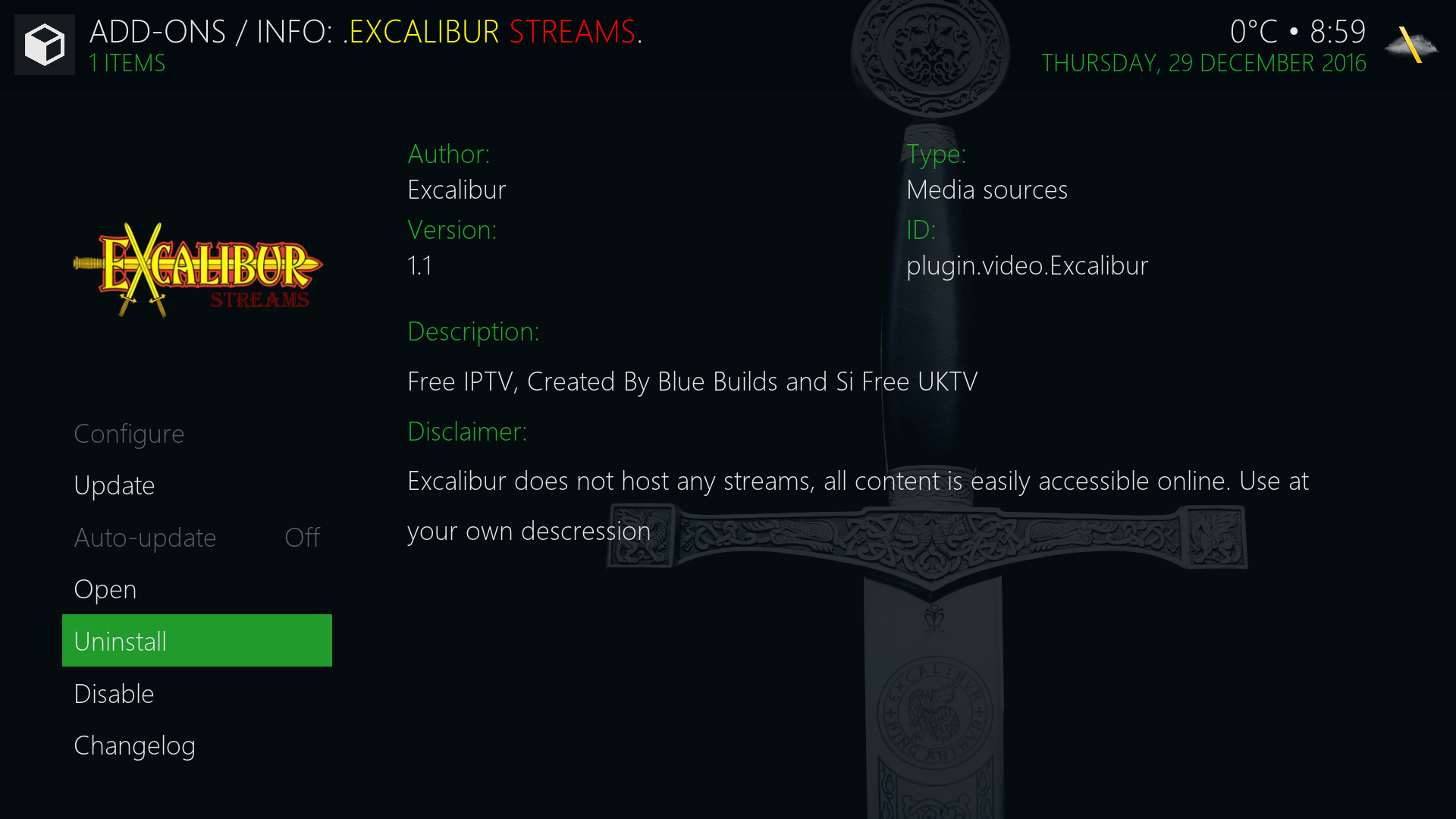 Guide Install Excalibur Streams Kodi Addon Repo