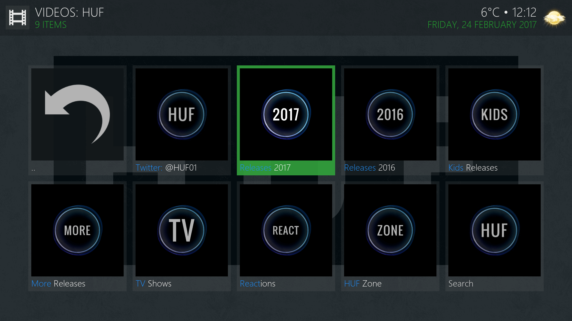 how to create playlist on kodi for addons