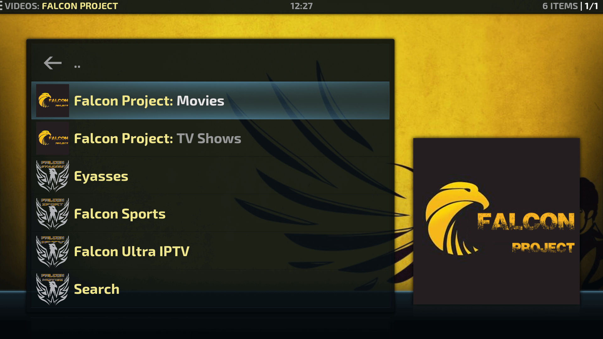 Guide Install Falcon Project Kodi Addon Repo - All in 1 Addon