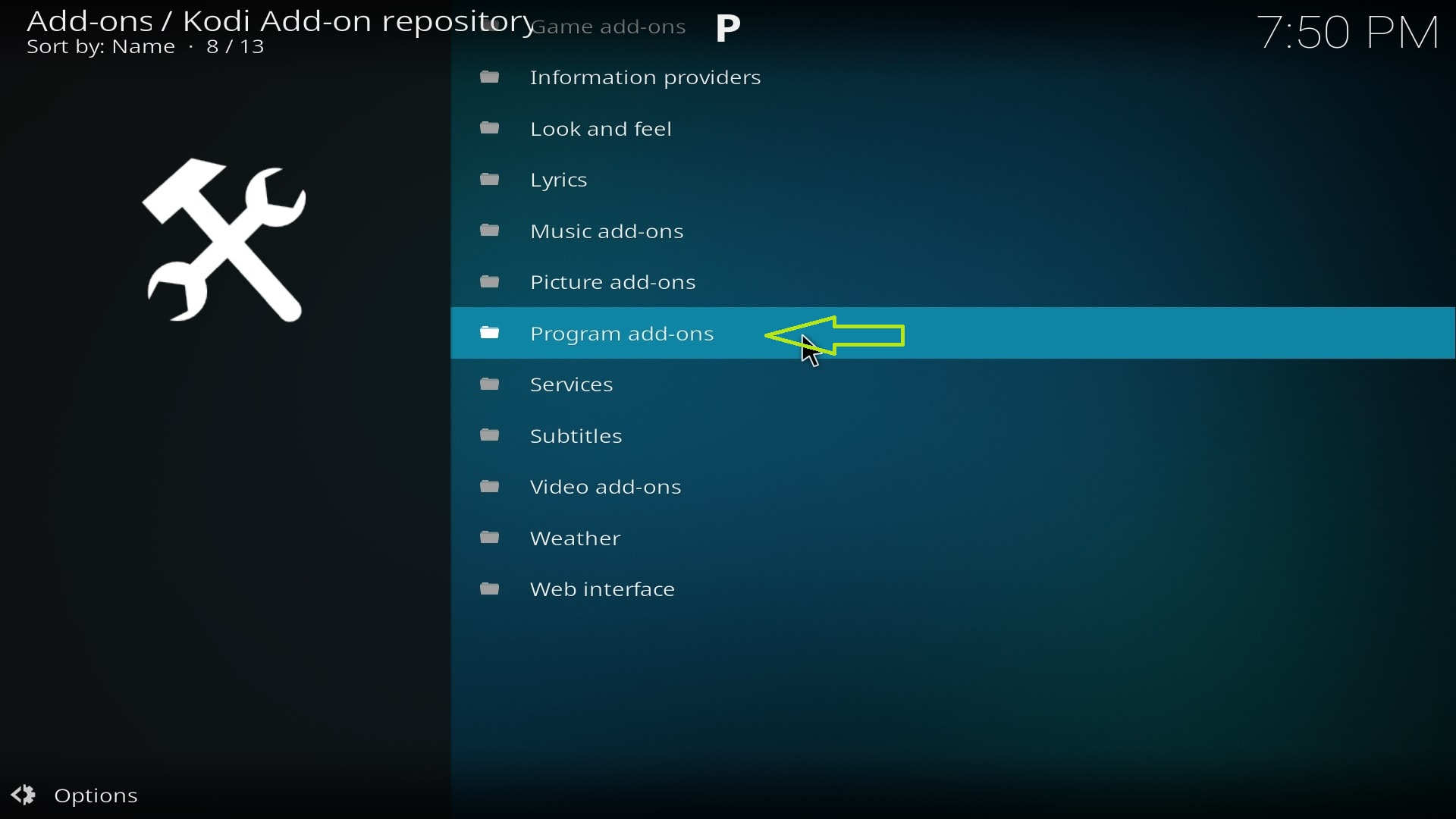 how to clean up kodi 17