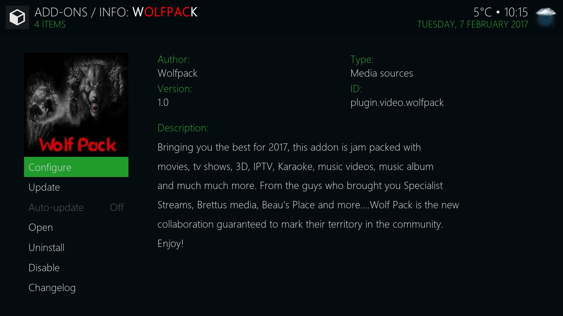 Guide Install WolfPack Kodi Addon Repo