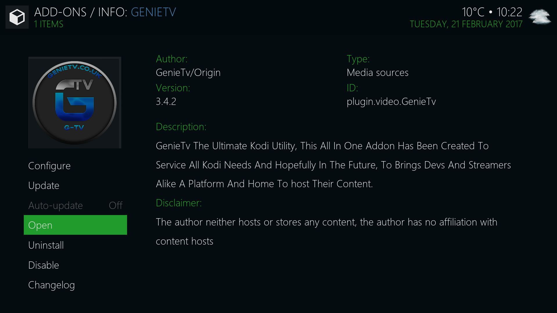 how to add genie to kodi