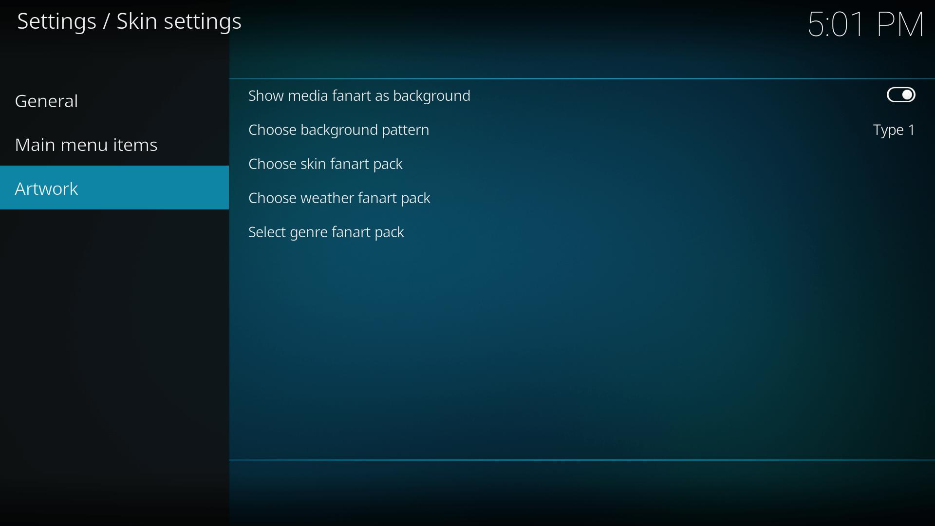 how to change default kodi settings
