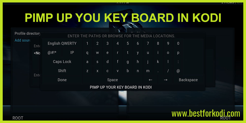 How to Pimp up your Key Board in Kodi