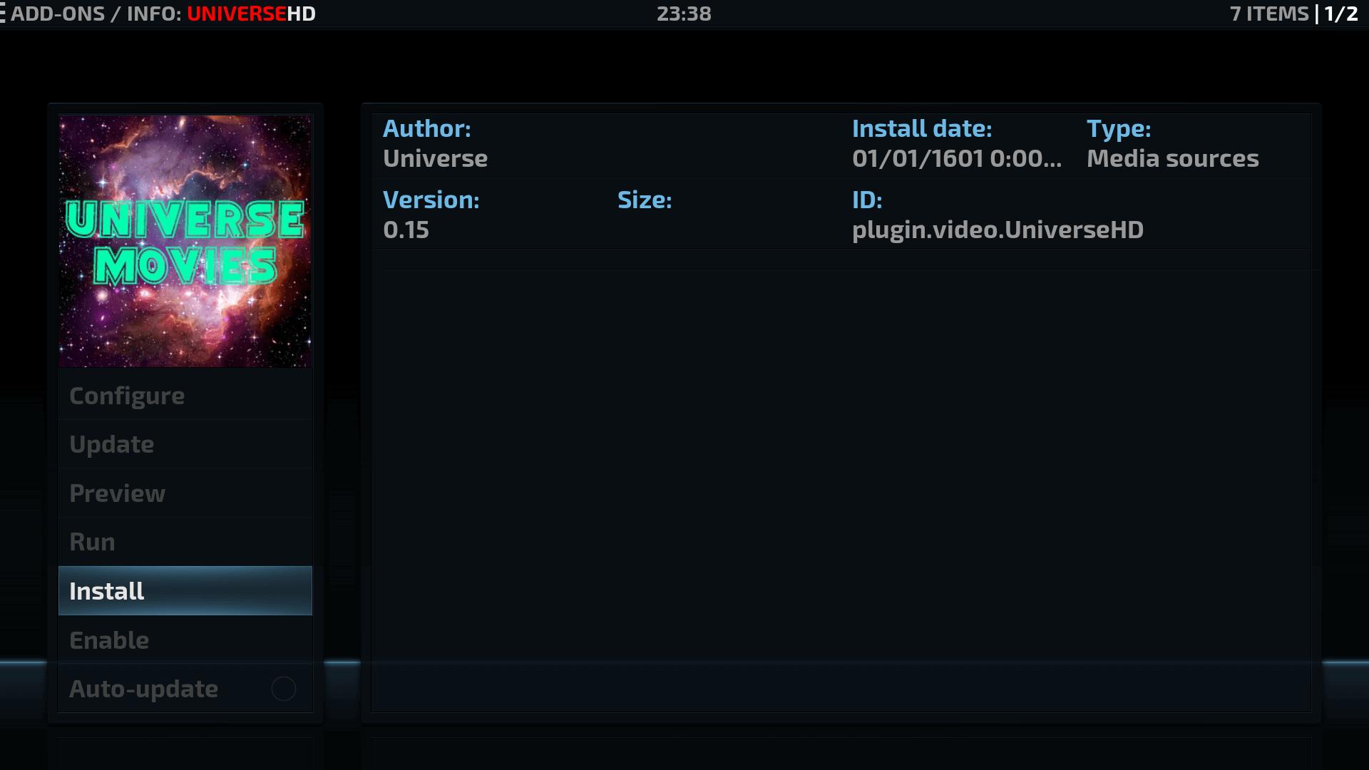 Install Guide Universe HD Kodi Addon Repo
