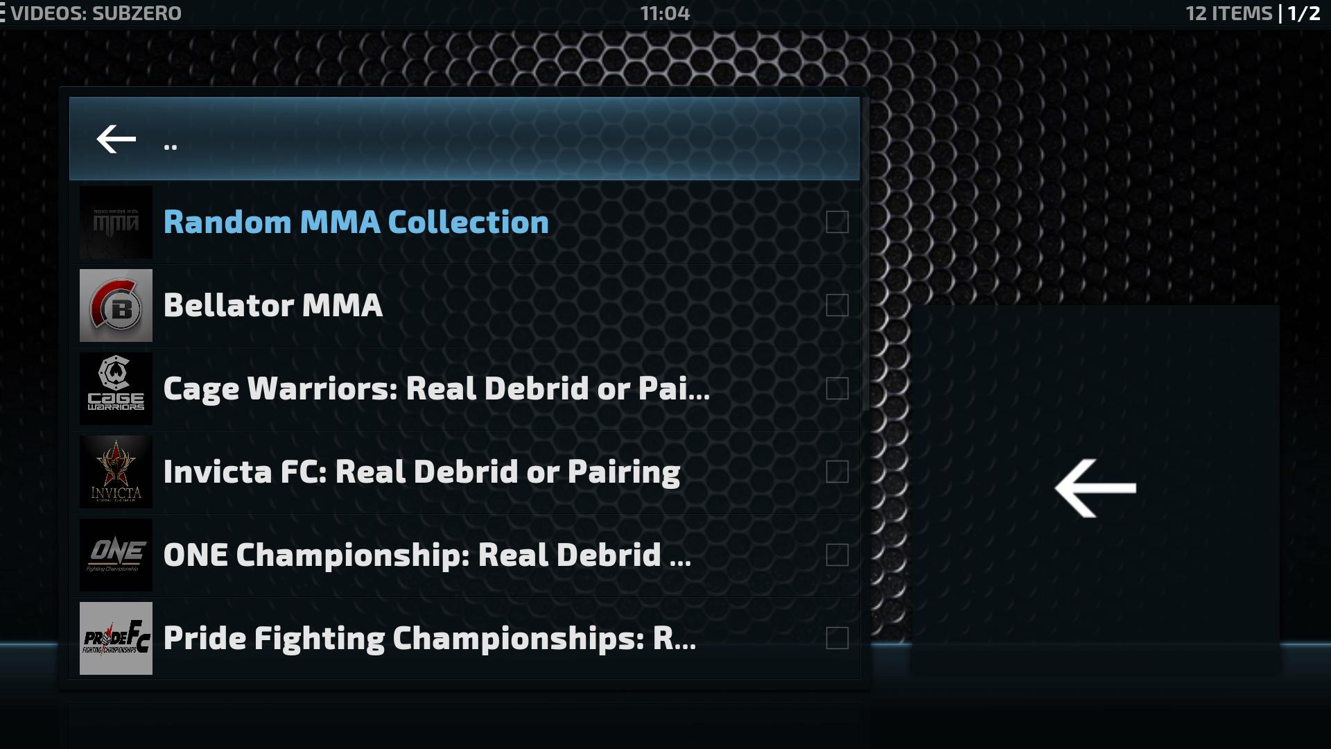 Guide Install Subzero MMA Kodi Addon Repo