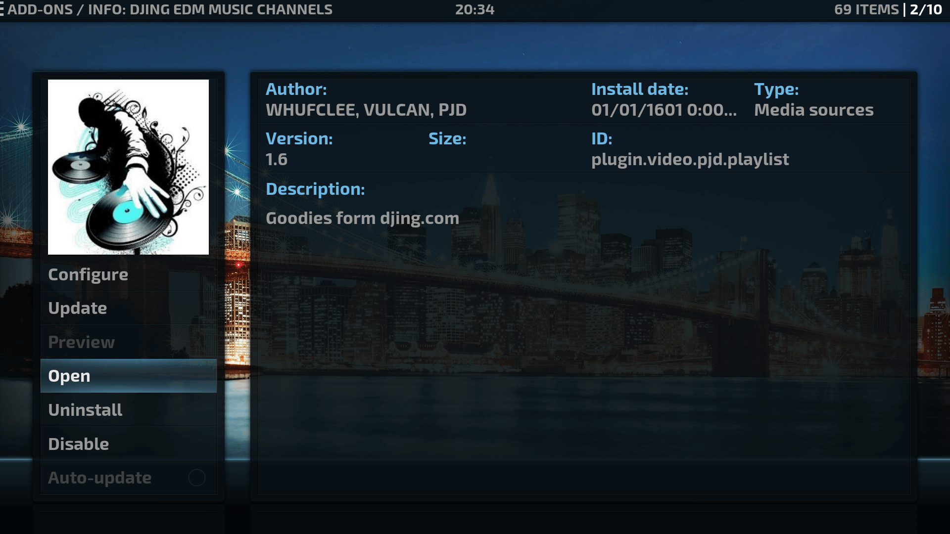Guide Install DJing EDM Music Channels Kodi Addon Repo
