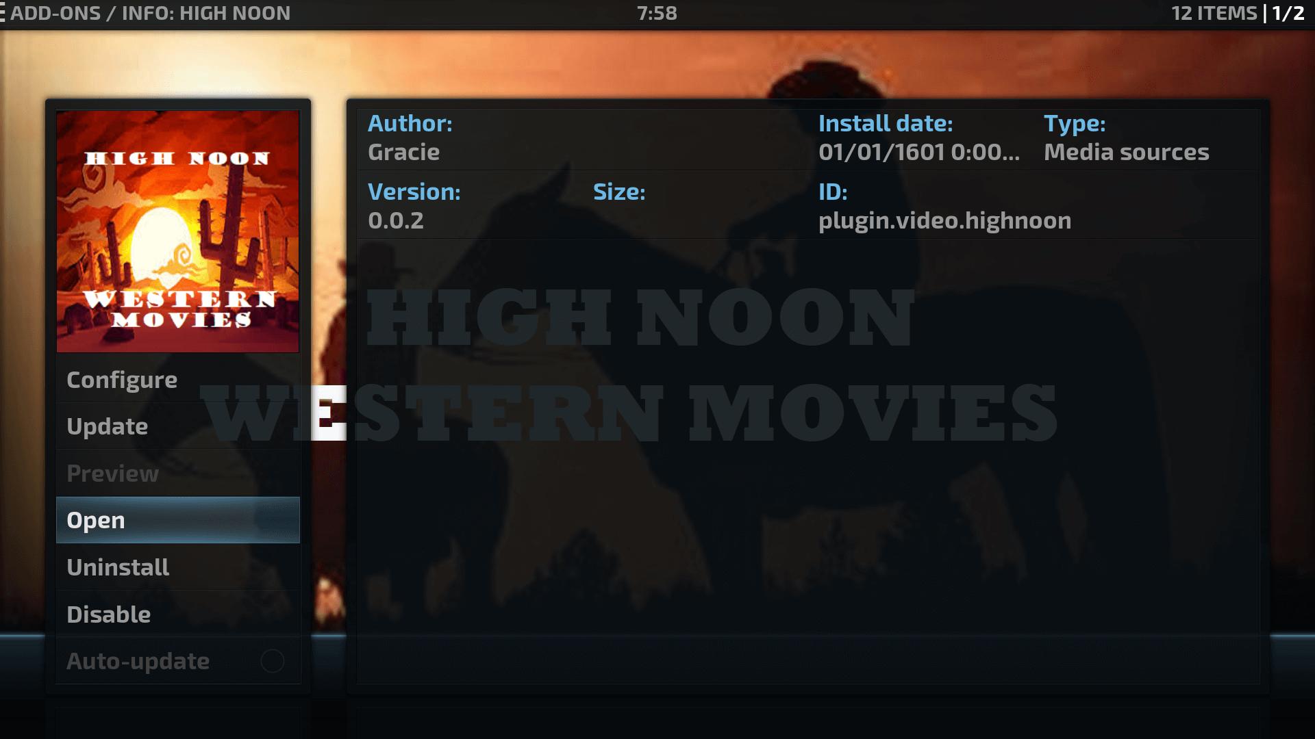 Guide Install High Noon Kodi Addon Repo - Western Addon