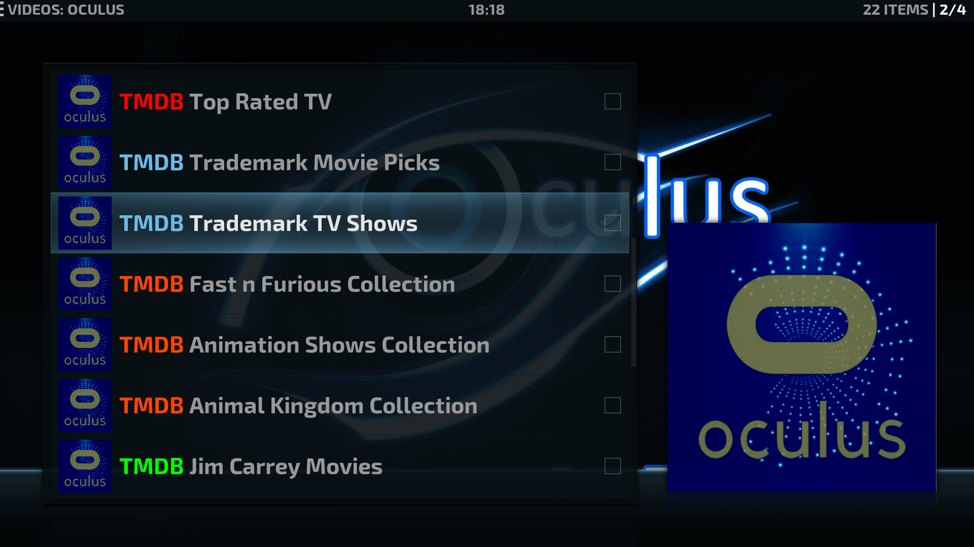 how to add oculus to kodi