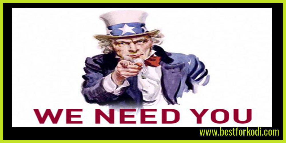 We Need You - Best For Kodi Readers and Followers