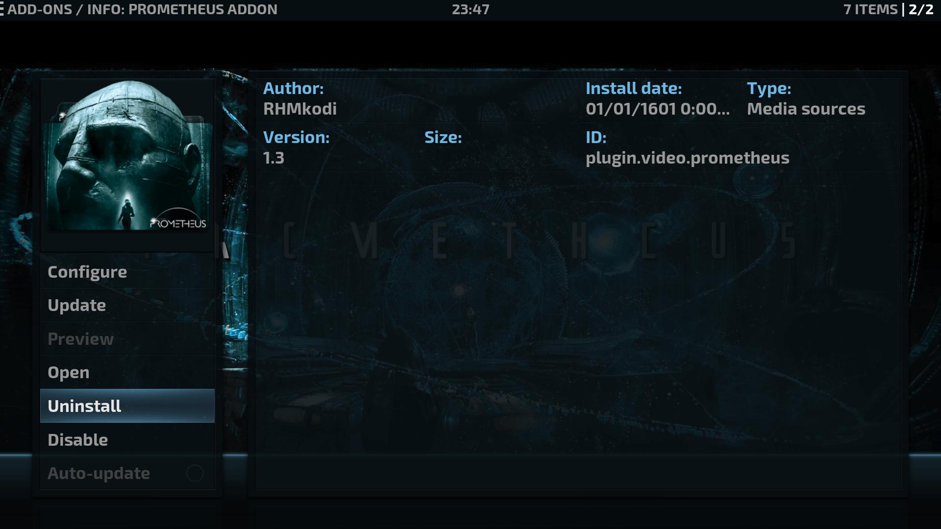 Guide Install Prometheus Kodi Addon Repo