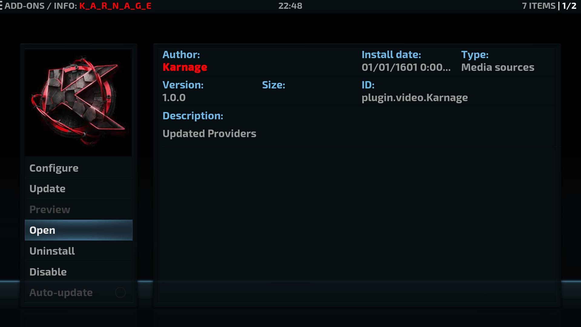 Guide Install Karnage Kodi Addon Repo