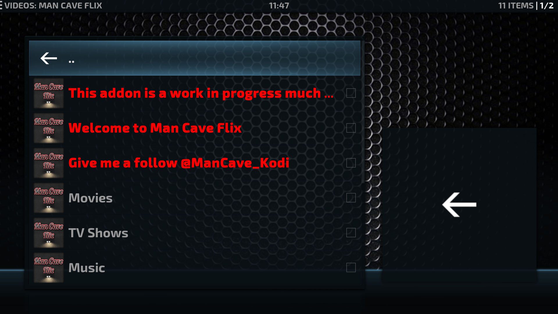 Man Cave Addon : Guide install man cave flix kodi addon repo best for