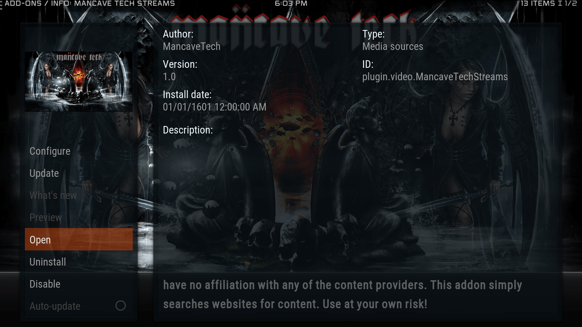 Guide Install ManCave Tech Streams Kodi Krypton Addon Repo