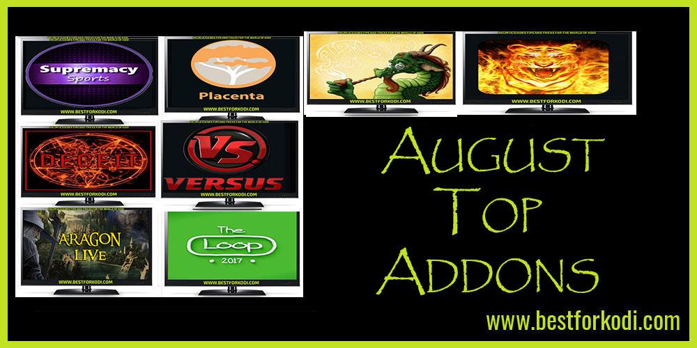 Best Kodi Addons for August 2018 - 100% Working