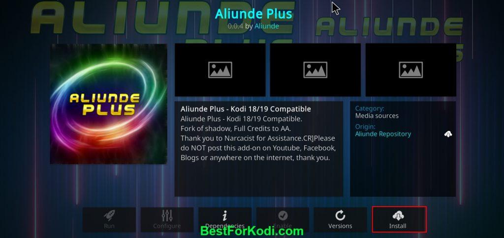 How to Install Aliunde Plus Kodi Video Addon
