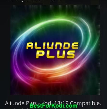 how to installAliunde Plus Kodi Addon